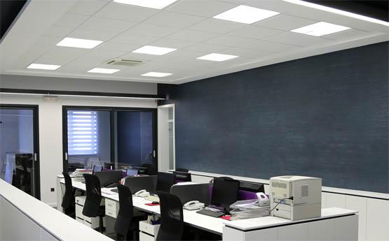LED Panele im Büro